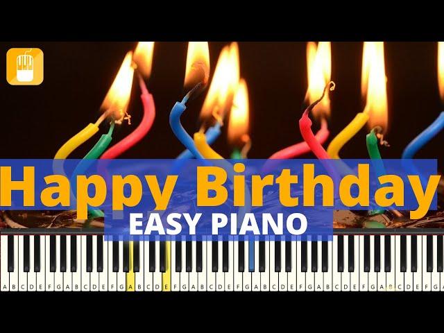 Happy Birthday piano tutorial zeer eenvoudig