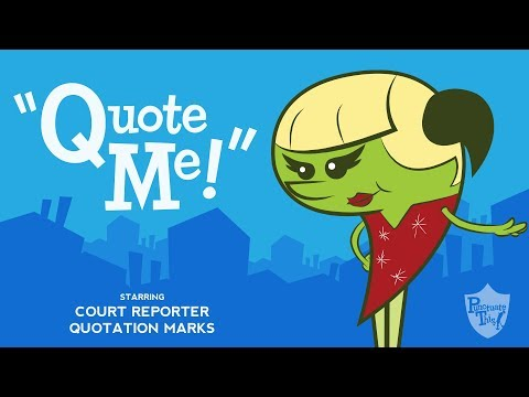 """Quotation Marks song from Grammaropolis - """"Quote Me!"""""""