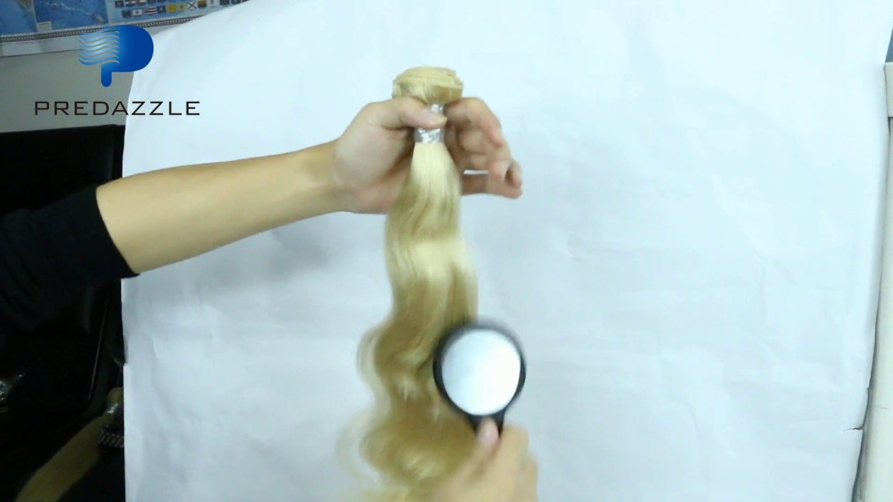 Body Weave Human Hair Weave Color 613 Youtube