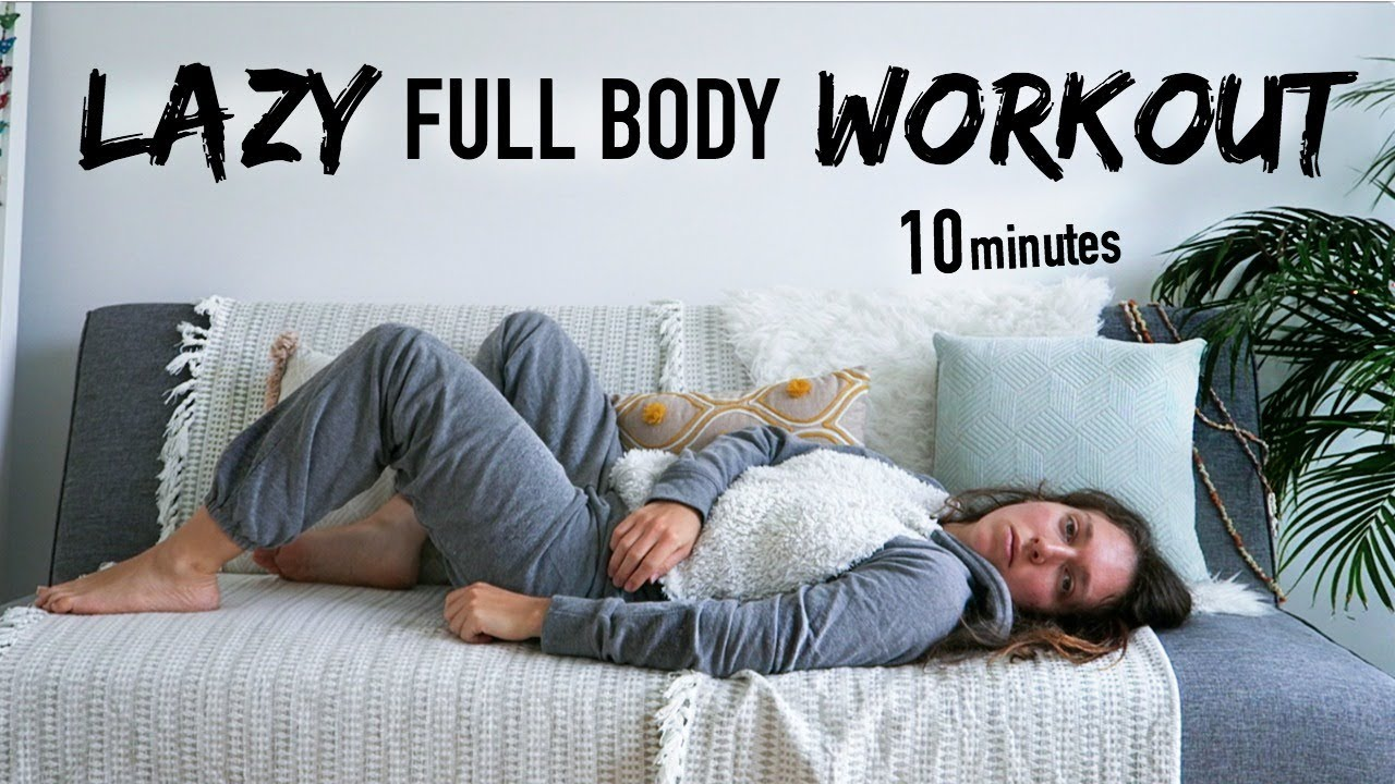 Lazy couch bed potato workout 100 lying down atfac day for Sofa workout