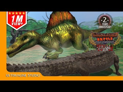 Download Youtube: Sarcosuchus vs Spinosaurus : Dinosaurs Battle Special