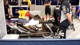 Red-Bull Renault, essai moteur.