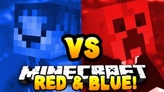 Minecraft - RED VS BLUE MICRO BATTLES! #6 - w/ Preston & Woofless