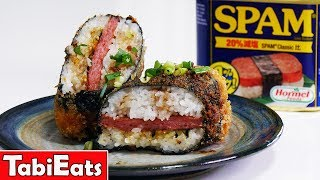 FRIED TERIYAKI SPAM MUSUBI Easy Recipe