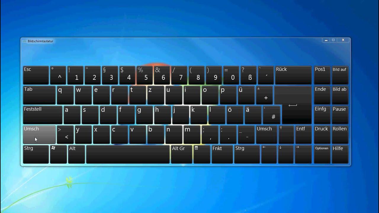 Tastatur Umstellen Englisch Deutsch Mit Tastenkombination Videotutorial Youtube