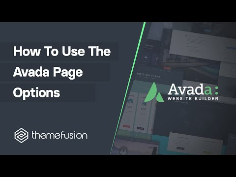 How To Use The Fusion Page Options Video