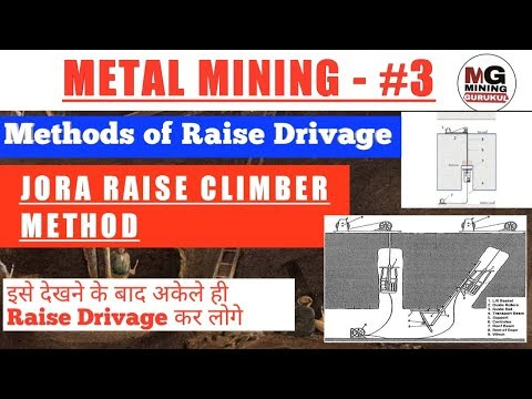 JORA RAISE CLIMBER METHOD | Method Of Raise Drivage | Metal Mining Video Series | MINING GURUKUL