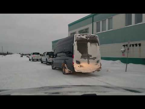 Driving From Hay River's Airport To Downtown