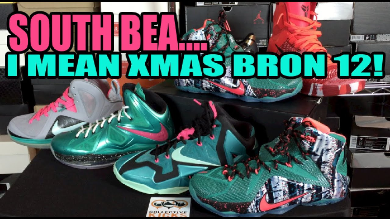 SouthBea… I mean Christmas Lebron 12! Review + On foot - YouTube