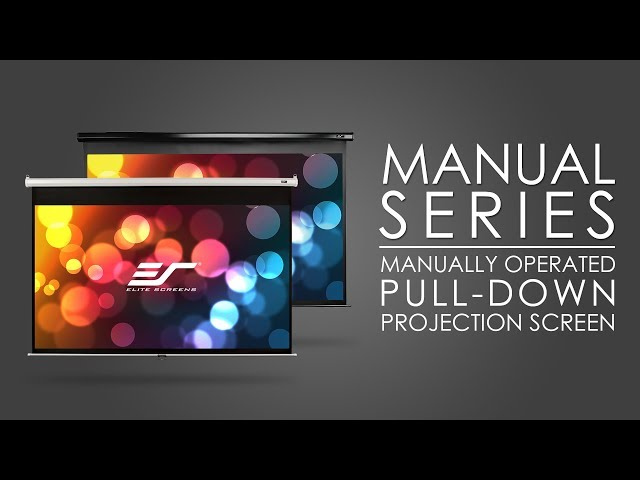 Elite Screens Manual Series - Manually Operated Pull-Down Projection Screen