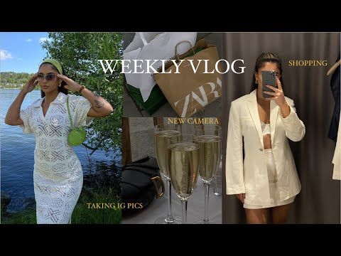 WEEKLY VLOG - New In Zara, Boat ride, Burgers w Philip & New camera