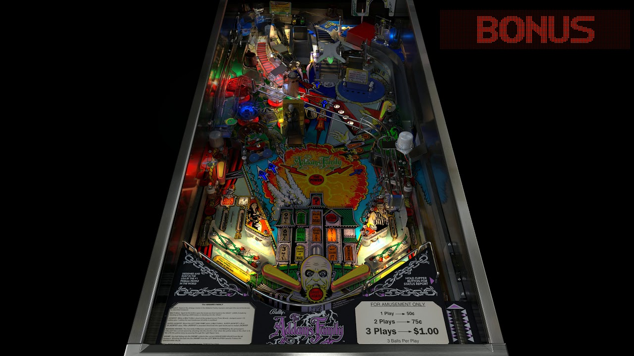 NEW 2019 version! The Addams Family Pinball mod TV with VIDEO playback