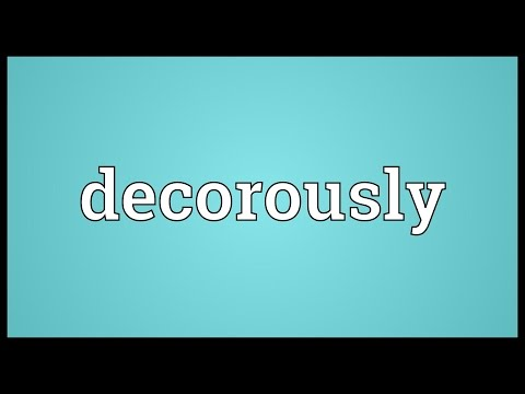 Header of decorously