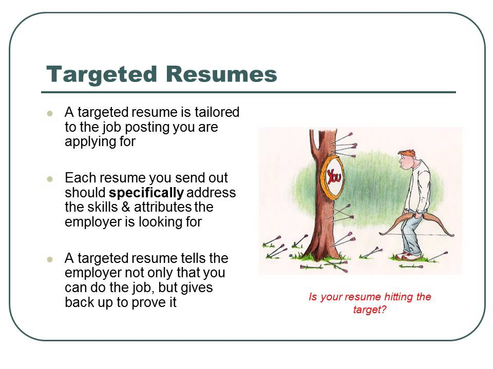 Branded and Targeted Resume Basics BC YouTube