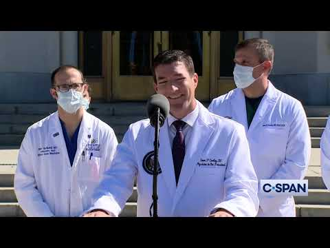 Walter Reed Medical Center News Conference on President Trump