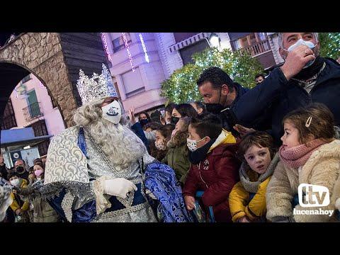 VÍDEO: La llegada de los Reyes Magos de Lucena ante el portal de Belén para adorar al Niño Jesús