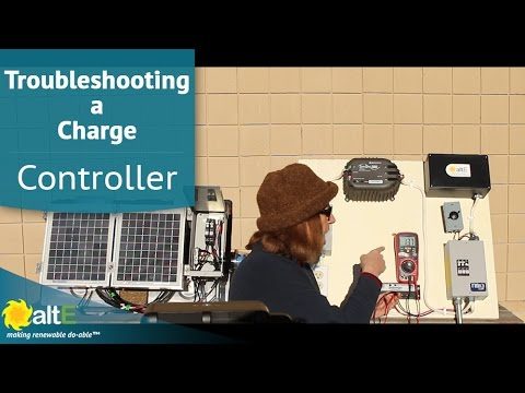 Troubleshooting a Solar Charge Controller