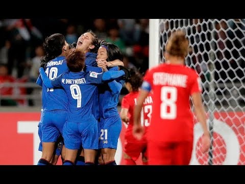 Thailand 6-1 Jordan (AFC Women's Asian Cup 2018: Group Stage)