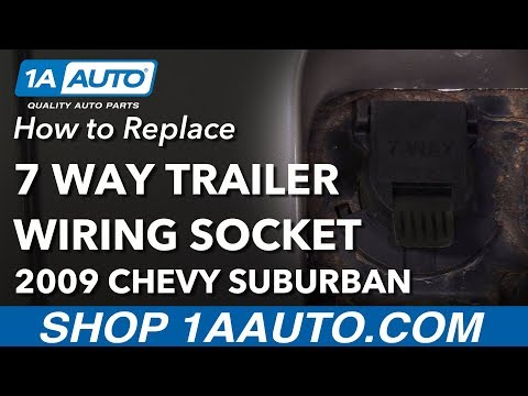 [SCHEMATICS_4ER]  How to Replace 7 Way Trailer Wiring Socket 00-13 Chevrolet Suburban -  YouTube | 2015 Gm 7 Pin Trailer Wiring |  | YouTube