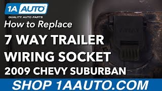[DIAGRAM_3US]  How to Replace 7 Way Trailer Wiring Socket 00-13 Chevrolet Suburban -  YouTube | 7 Way Trailer Plug Wiring Diagram For 2002 Suburban |  | YouTube