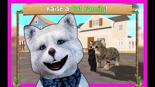 😀СИМУЛЯТОР Маленького КОТЕНКА #6 КОШКА родила котенка развлекательное видео от Медвежонка Марсика