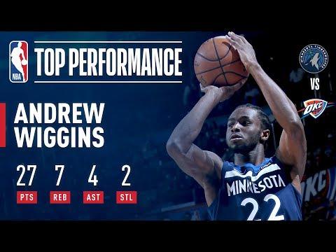 Andrew Wiggins Game-Winner vs. Thunder, Scores 27 | October 22, 2017
