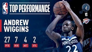 Andrew Wiggins Game-Winner vs. Thunder, Scores 27 | October 22, 2017