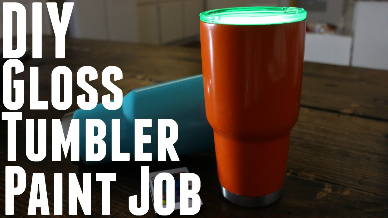 Diy How To Make Paint Your Stainless Steel Yeti Rec Pro Ozark Trail Tumbler
