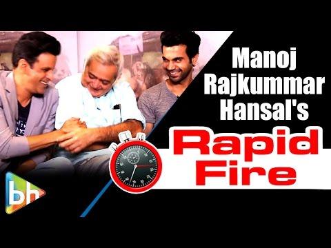Aligarh Stars Manoj Bajpai | Rajkummar Rao | Hansal's ENTERTAINING Rapid Fire On SRK | Aamir