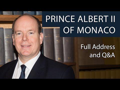 Prince Albert II of Monaco | Full Address & Q&A | Oxford Union