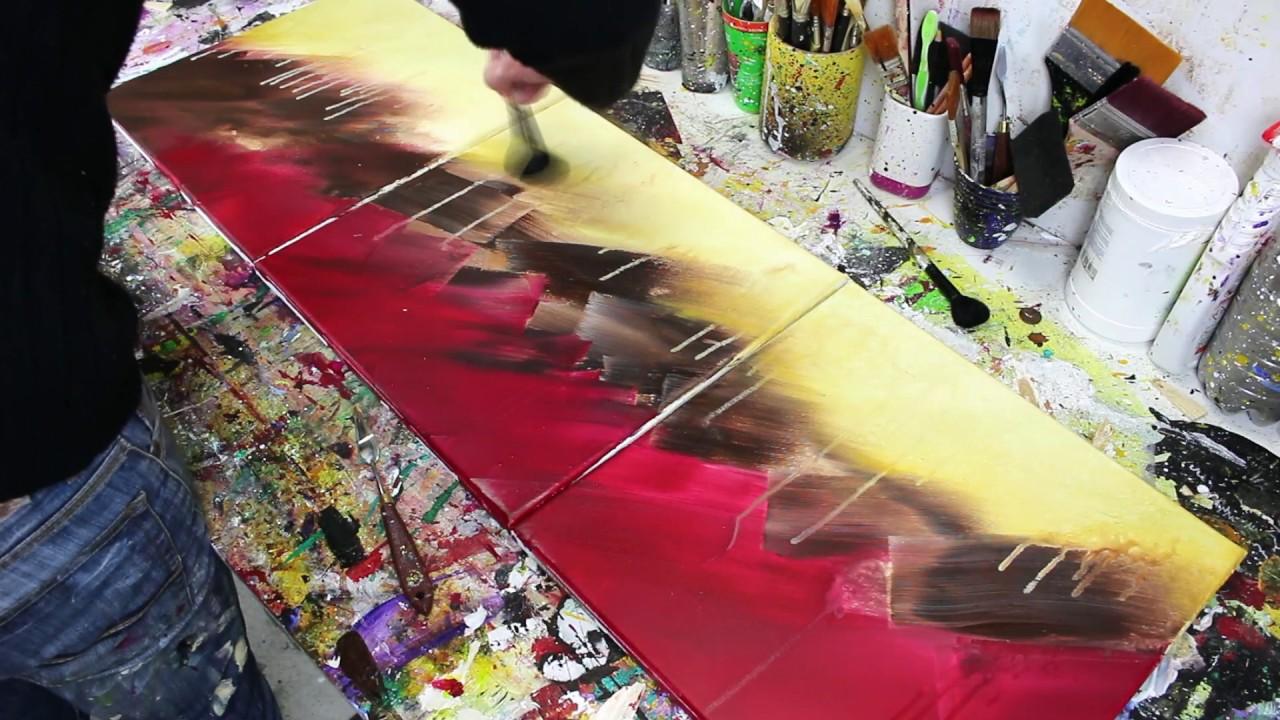 Comment Faire Un Tableau Abstrait Facilement Peinture Acrylique