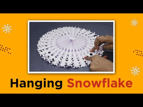 3D Paper Snowflake Christmas Decoration Ideas | Easy DIY White Paper Flower | CraftingHours