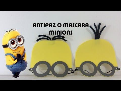 Antifaz O Mascara Para Ninos De Los Personajes De Minions Youtube