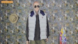 Fashion grey vest men sleeveless jacket with waterproof 40D nylon fabric MVT0006