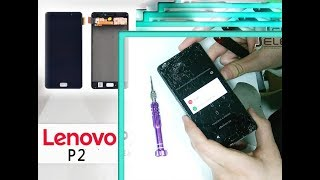 Lenovo P2 (P2a42) How to change LCD & Digitizer set replacement Full Tutorial / Wymiana ekranu