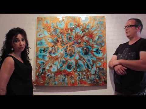 Lee Tyler - New Fluid Abstract Art Explained and In Arthouse Gallery Now