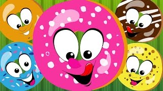 Five Little Doughnuts | Five Little Donuts | Doughnuts | Nursery Rhymes