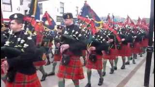 Army Cadet Force and Air Training Corps Pipes and Drums at Dingwall 2014