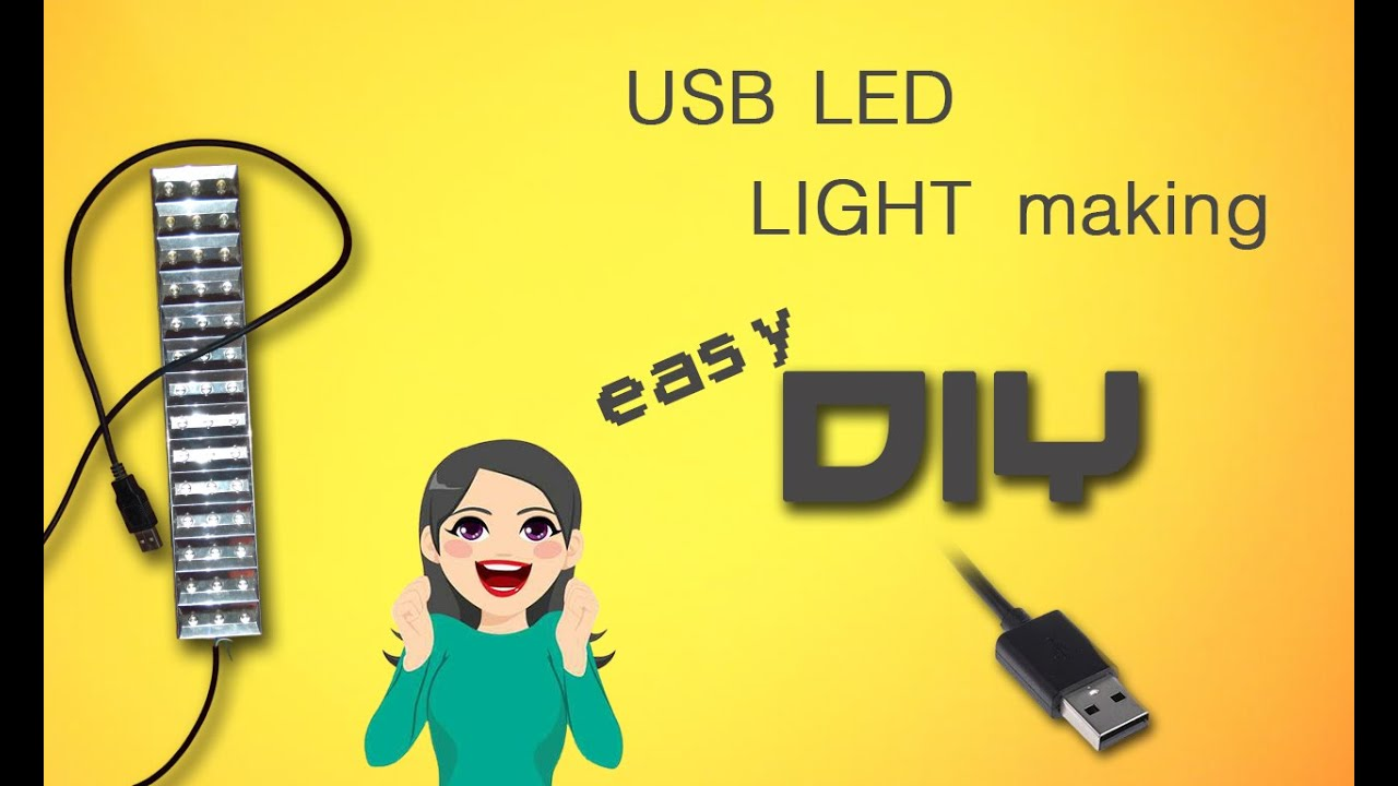 USB light making | Sunday DIY - YouTube