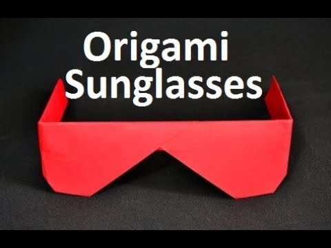 Paper Sunglasses:How to make Colorful Origami Sunglasses||Paper Sunglasses Training For Kids