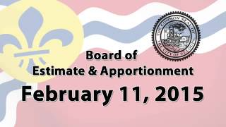 Estimate & Apportionment   February 11, 2015 Special Meeting