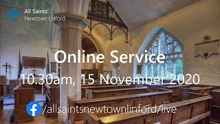 Online Service for All Saints', Sunday 15 November 2020
