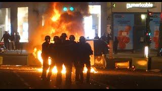 Barricades, manif sauvage et affrontements à Paris - Nuit Debout- 09/04/16