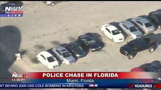 FULL POLICE CHASE: High Speed Chase In Miami, Florida