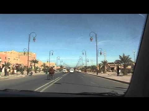 driving in Zagora, Morocco