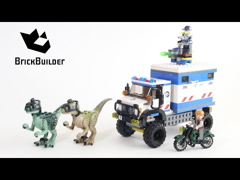 lego-jurassic-world-75917-raptor-rampage---lego-speed-build