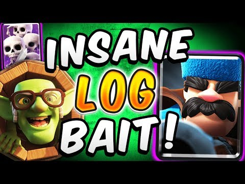 CRAZIEST DECK IN CLASH ROYALE! ROYAL GIANT LOG BAIT DECK! — Clash Royale
