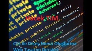 Web Tasarım CSS İle Dikey Menü Oluşturma 1