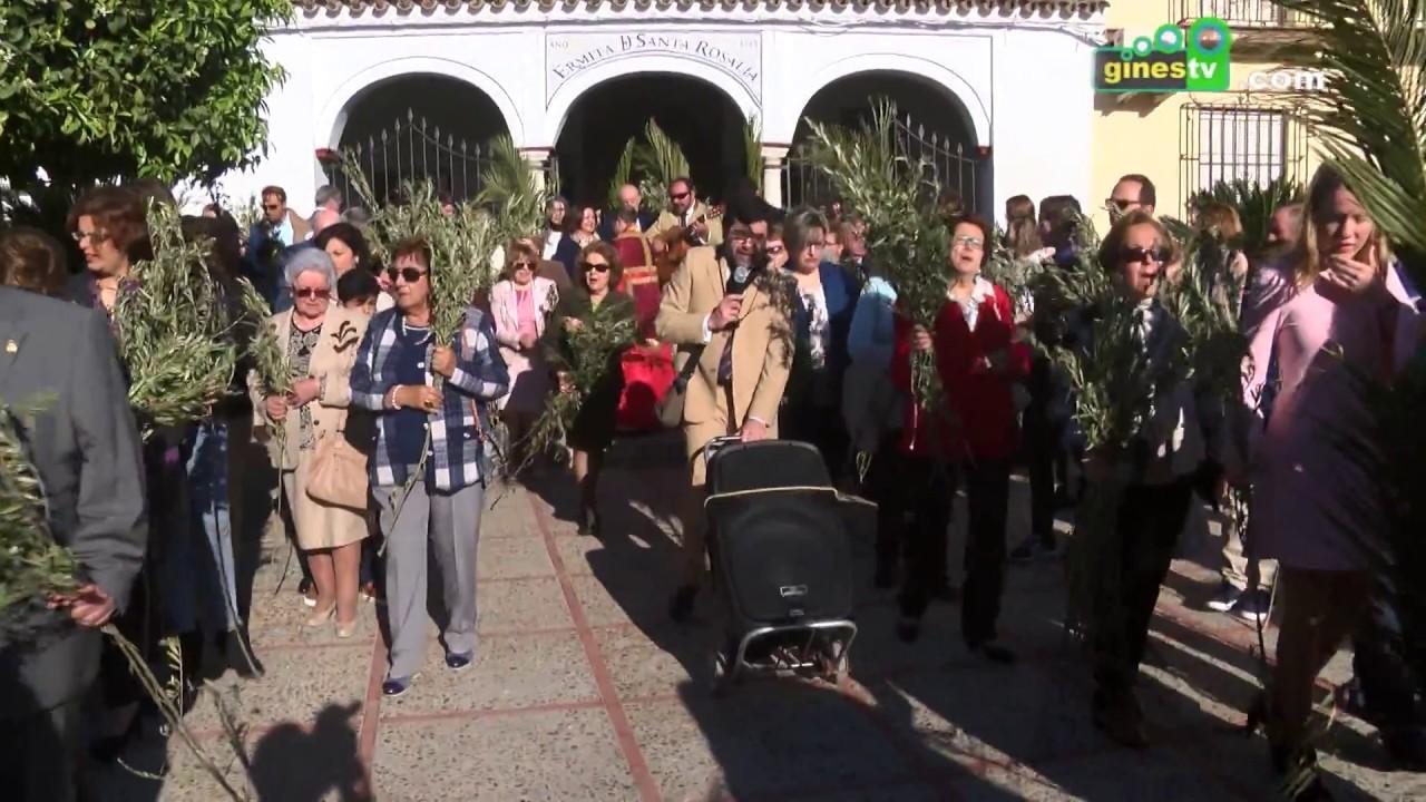 La Semana Santa de Gines comenzó con la procesión de palmas del Domingo de Ramos