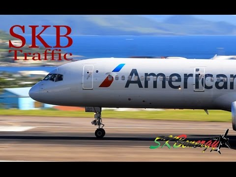 St. Kitts Action !!! 777-200, 737-800, 757-200, A320...@ the Robert L. Bradshaw Int'l Airport